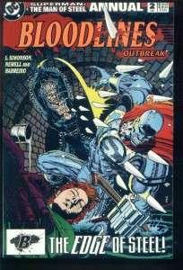 SUPERMAN MAN OF STEEL ANNUAL #2 BLOODLINES 1993 DC