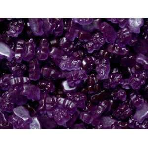 Purple Grape Gummi Gummy Bears Candy 1 Pound Bag:  Grocery