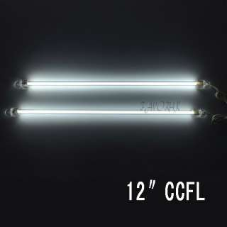 WHITE 12 CCFL COLD CATHODE CAR COMPUTER LIGHT LAMP