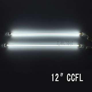 WHITE 12 CCFL COLD CATHODE CAR COMPUTER LIGHT LAMP