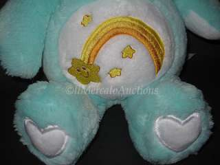 Green WISH BEAR Stuffed Animal Toy Bunny Rabbit Ears Star 19