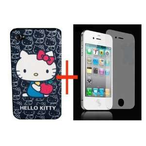 lot of 2 itemsHello Kitty Hard Case Cover Back black for iPhone 4 4G