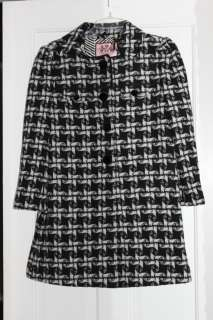 Check Black and White Checkered Angel MOD Swing Coat $448