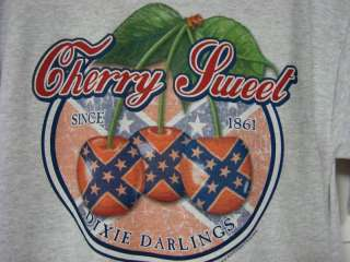 Darlings Rebel Flag Design Cherry Sweet Womens T Shirt New