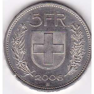 2006 B Switzerland 5 Franc Coin Everything Else