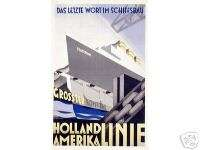 Vintage German Cruise Line Poster 1930s