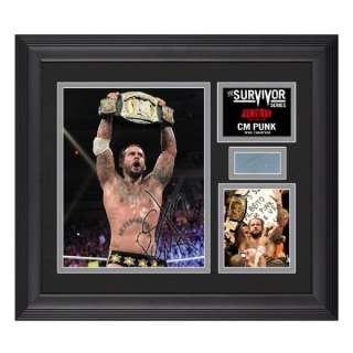 WWE CM PUNK SURVIVOR SERIES SIGNED PLAQUE WITH WWE COA
