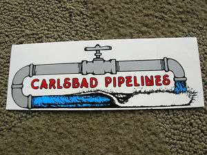 carlsbad pipeline surf shop surfing surfer surfboard sticker decal