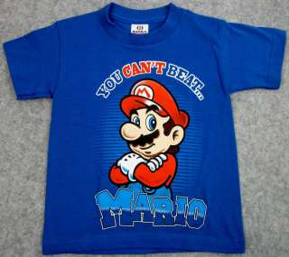 NINTENDO SUPER MARIO BROS. T shirt You Cant BeatMario Youth Tee