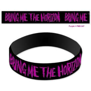 BRING ME THE HORIZON Purple & Black Logo Rubber BRACELET WRISTBAND