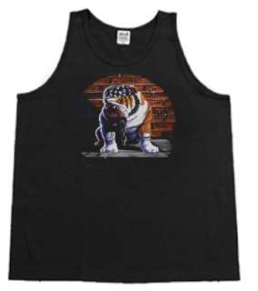 English Bulldog Biker tank top Sleeveless T shirt