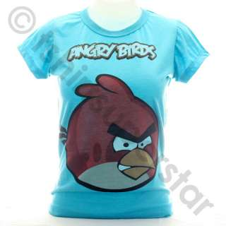ANGRY BIRDS Girls Ladies T Shirt /Top / Tshirt S / M