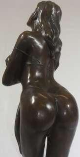 FEMALE FIGURE WOMAN BRONZE ART SCULPTURE STATUE