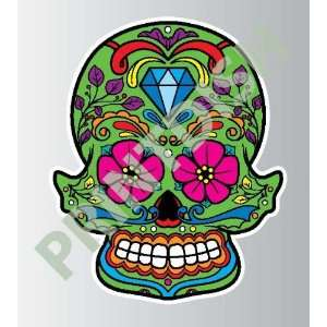 Sugar skull 4 1 sticker vinyl decal 5 x 4