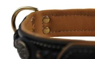 Handmade Genuine Nappa Leather Padded Strong Dog Collar