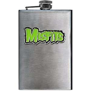 THE MISFITS GREEN LOGO FLASK: Home & Kitchen
