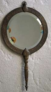 From an estate, an antique Tiffany & Co bronze wall mirror in