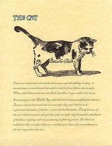 Book of Shadows page The Cat Wicca Wiccan Familiar