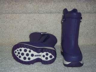 Girls Lands End Snow Flurry Boots Sz 5 Loganberry Purple New