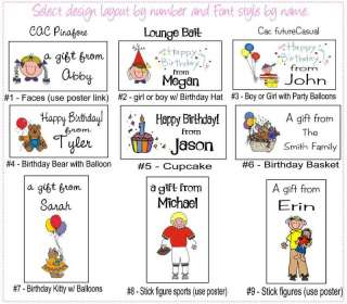 CUSTOM Personalized GIFT LABELS STICKERS GIFT TAGS