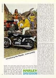 1967 Harley Davidson ad ~ Rapido 125 ~ Look Quickly