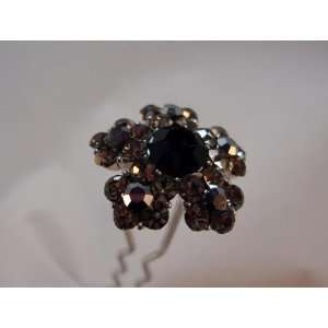 Black Austrian Crystal Hair Stick Pin