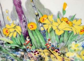 Royal Winton SUBLIME HAND PAINTED DAFFODIL CAKE DISPLAY PLATE