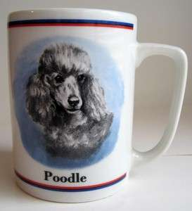 Gray POODLE Dog Portrait Ceramic Coffee Mug Cup R Maystead PAPEL