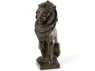 and impressive art nouveau c1910 heavy bronze statute of a seated