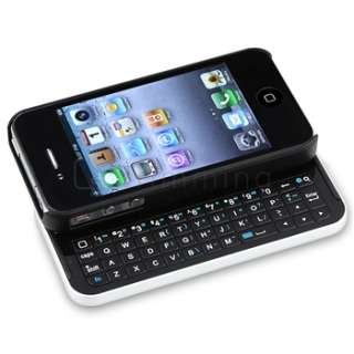 Mini Sliding Bluetooth Keyboard + Power Pack Battery Case for iPhone 4