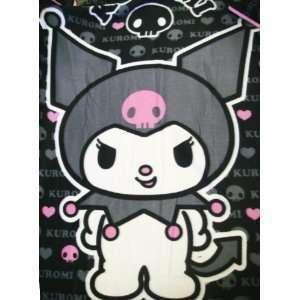 Sanrio KUROMI Devil Goth Skull Fleece Soft Throw Bedding