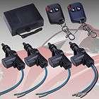 Door Power Central Lock Kit w/ 2 Keyless Entry Car Remote Control