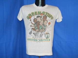 vintage BOSTON CELTICS LARRY BIRD TEAM CARICATURE t shirt S