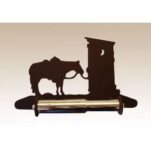 Horse & Outhouse Toilet Paper Holder (Spring Load)
