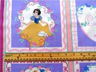 Disney Princess Fabric 35 Belle Cinderella Aurora Snow White Cartoon