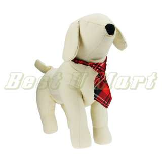 Adjustable Red Grid Pet Dog Cat Handsome Bow Tie Necktie Collar 25cm