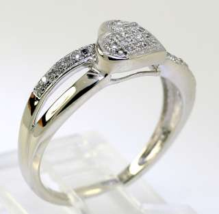 31 DIAMOND WHITE GOLD DOUBLE RIBBON HEART RING DEAL OF THE DAY