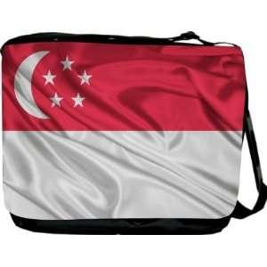 Rikki KnightTM Singapore Flag Messenger Bag   Book Bag