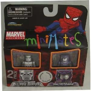 Minimates Exclusive Cosmic Silver Surfer and Swordsman Toys & Games