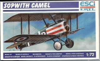 Esci Model 1/72 Sopwith Camel WWI