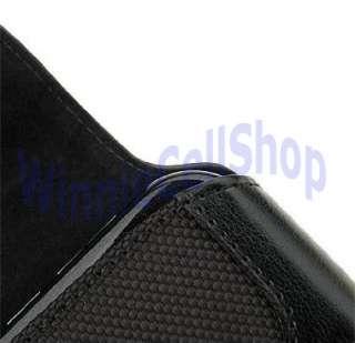 Brand New High Quality Black Leather Belt Clip Case for LG 320G