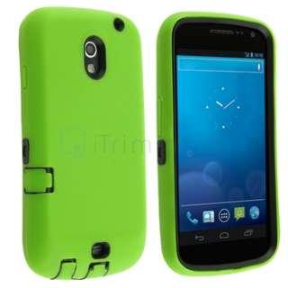 For Samsung I515 Galaxy Nexus Cell Phone Cover Hybrid Case Armor Green