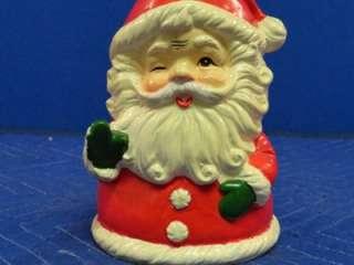 Ceramic Berman & Anderson Winking Santa Claus Music Box AA53