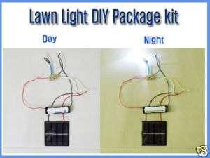 Solar Lawn Light DIY Package Kit, LED Red Color