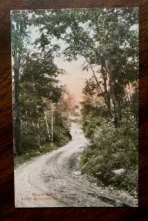 MAPLE LANE LAKE SUNAPEE NH Postcard 1907 NEW HAMPSHIRE