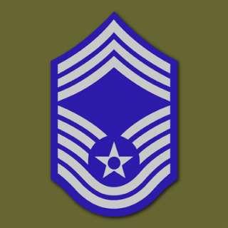 Air Force E 9 Chief Master Sgt Vinyl Sticker VLAFE9Z