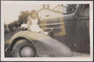Photo Mistake Girl w/ 1936 Chevrolet Chevy Car 642548
