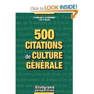 500 citations de culture generale (9782844726582