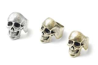 Korean]New Men/Women Fashion Antique Tattoo Skull Ring