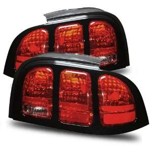 94 98 Ford Mustang Red/Clear Tail Lights Automotive